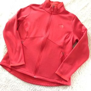 North face women's zip up XXL coral red jacket